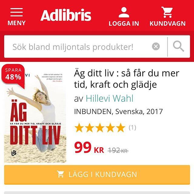 Hälsokampanj på Adlibris! Passa-på-pris: 99 spänn! @adlibris.com @louisebackelinforlag