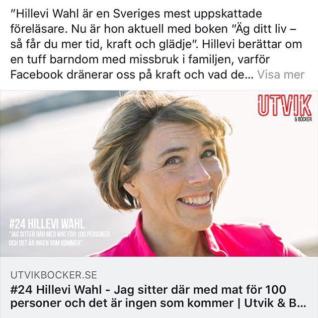 """Lyssningstips för hängmattan. """"Hillevi Wahl är en Sveriges mest uppskattade föreläsare. Nu är hon aktuell med boken """"Äg ditt liv – så får du mer tid, kraft och glädje"""". Hillevi berättar om en tuff barndom med missbruk i familjen, varför Facebook dränerar oss på kraft och vad det innebär att vara log-out läger i skärgården."""" @akademibokhandeln @utvikbocker"""