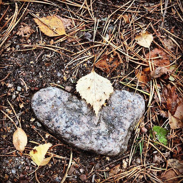Och plötsligt. Ett hjärta. ️