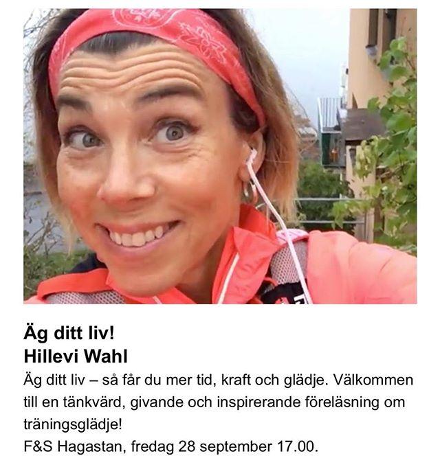Stockholm! Friskis och Svettis! Välkomna på en fartfylld inspirationsföreläsning. Boka plats och få en bok på köpet! ️ Mer info på F&S Haga.