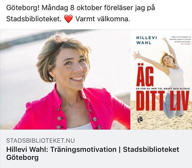 Jag tror att det blir en toppenmysig kväll på Stadsbiblioteket i Göteborg i kväll. En timmes superpepp. Klockan 18.00-19.00. Varmt välkomna. ️