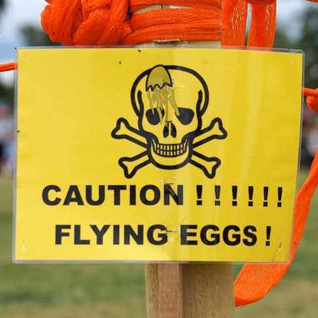 """Avd Tips till Tonårsföräldrar: Är ditt barn lite deppigt? Ta några okokta ägg och ropa: """"Fånga!"""" Alternativt jonglera med dem. Om du kan. Kostar så lite, skapar så mycket busig glädje. ️"""
